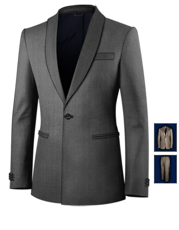 Herrenmode Anz�ge 50 with 1 Button, Single Breasted