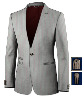 Herrenmode Anz�ge 50 Neu with 1 Button, Single Breasted