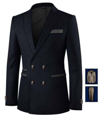 Gr 64 Anz�ge with 4 Buttons,double Breasted (2 To Close)