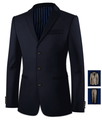 Herrenmode Anz�ge Einschlitz 56 with 3 Buttons, Single Breasted