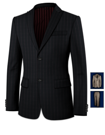 Anzug Braun Herrenmode with 2 Buttons, Single Breasted