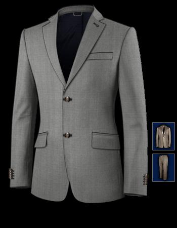 Ihr Anzug Nach Ma�� Auf überweissung with 2 Buttons, Single Breasted