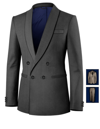 Tailor Anz�ge Nach Wunsch with 4 Buttons, Double Breasted (1 To Close)