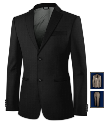 Herren Ma��anzug with 2 Buttons, Single Breasted