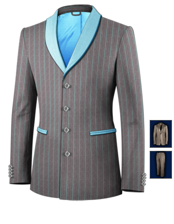 Mafia Anzug with 4 Buttons, Single Breasted