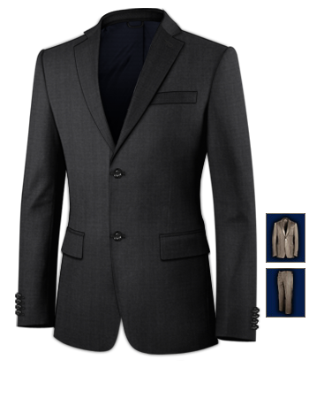 Blauer Anzug with 2 Buttons, Single Breasted